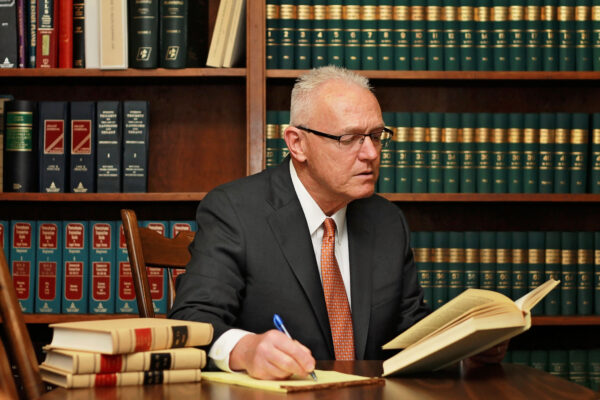 Attorney David S. Sobotka Reading Law Book